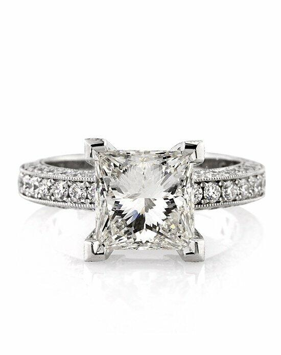 Mark Broumand 4.54ct Princess Cut Diamond Engagement Ring Engagement Ring photo