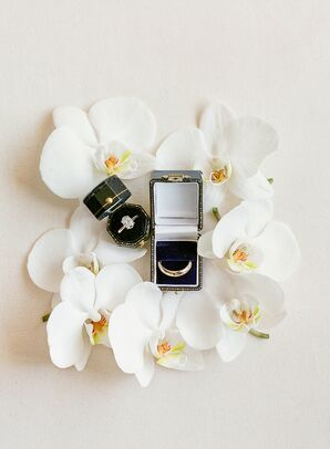 Wedding Rings with Orchids at The Grand Hall at Power & Light in Kansas City, Missouri