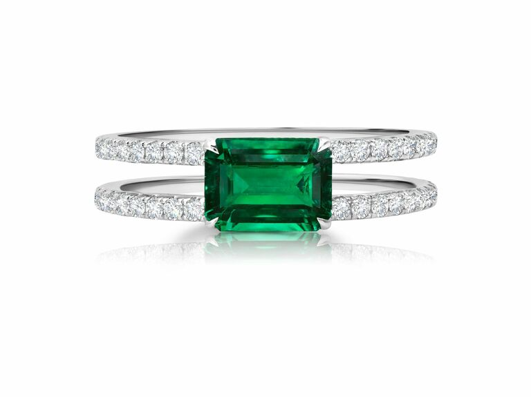 Graziela emerald engagement ring