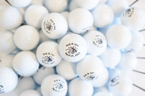 White Custom-Made Golf Ball Favors