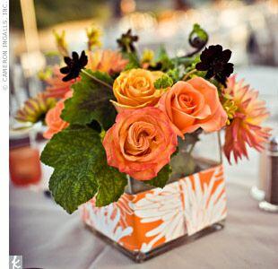 Standout vase wedding centerpiece