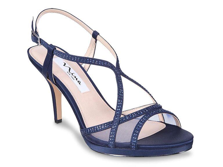 dsw blue mother of the groom platform sandal with jewels