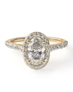 James Allen Unique Oval Cut Engagement Ring