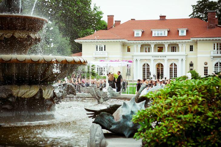 Tupper Manor Garden Wedding Ceremony Venue