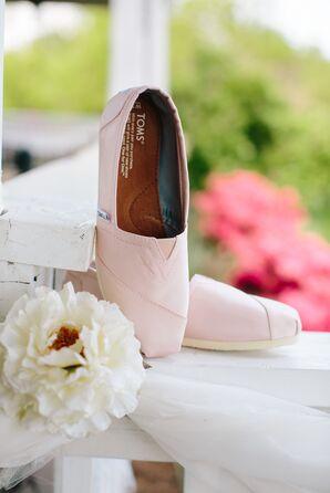 Blush Toms Wedding Shoes