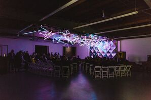 Neon Light Installation Above Ceremony Space