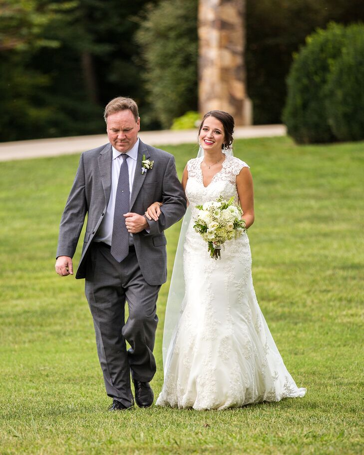 Ceremony Processional at The Ruins at Kellum Valley Farms