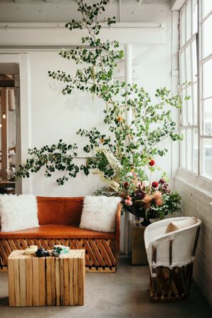 Bohemian Lounge Area with Vintage Furniture