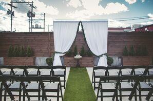 Rustic Urban Rooftop Garden Ceremony