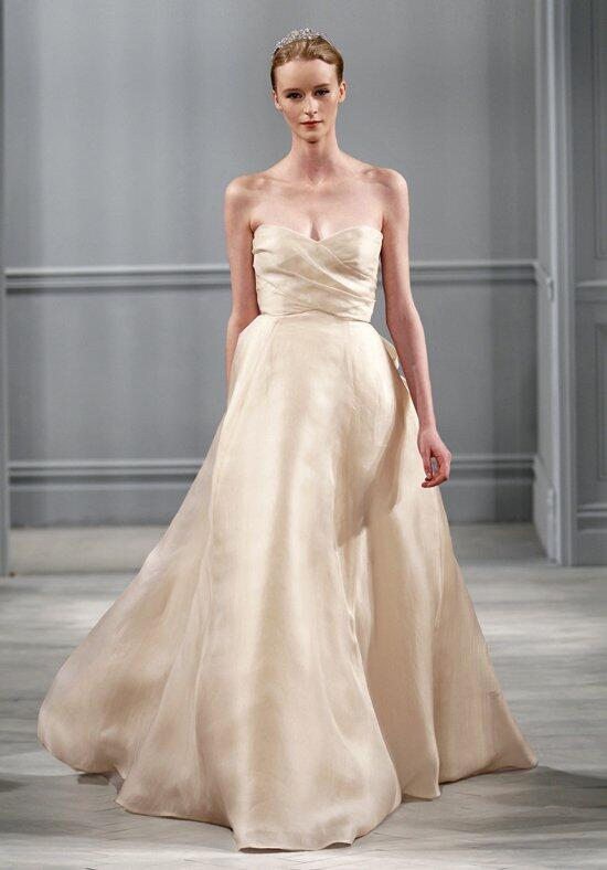 Monique lhuillier sunday rose wedding dress the knot for Monique lhuillier pink wedding dress