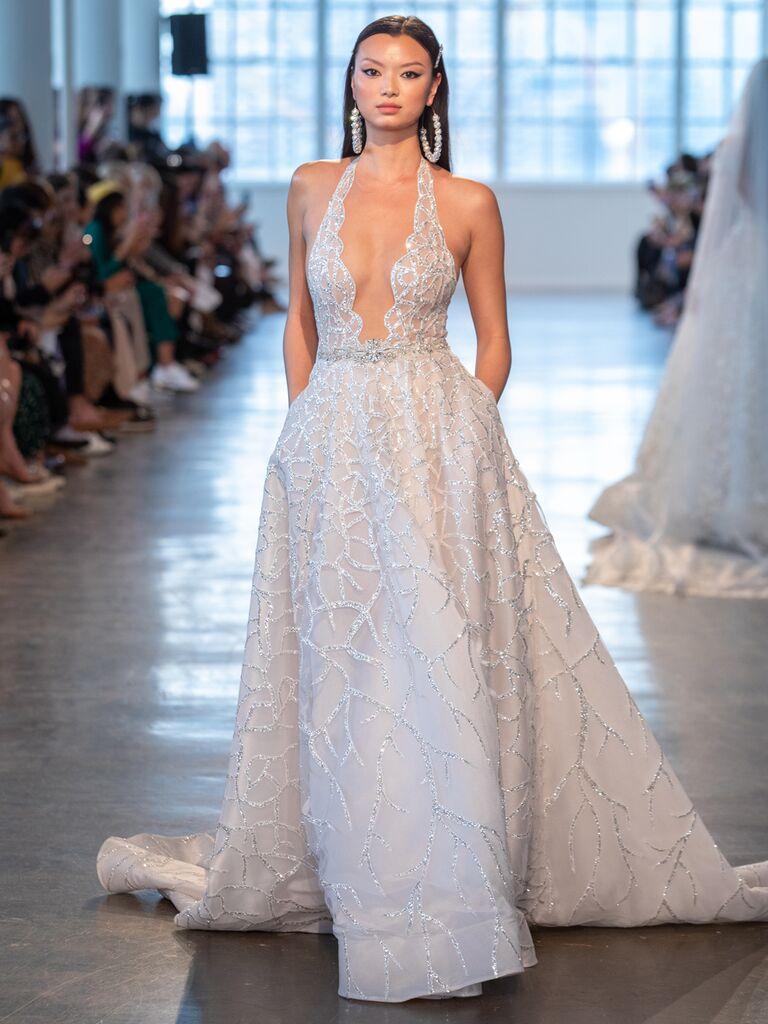 Berta Spring 2020 Bridal Collection halter wedding dress