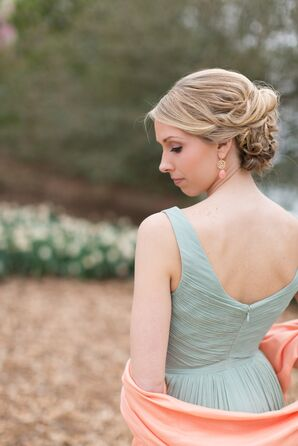 Dusty Shale Chiffon J.Crew Bridesmaid Dresses