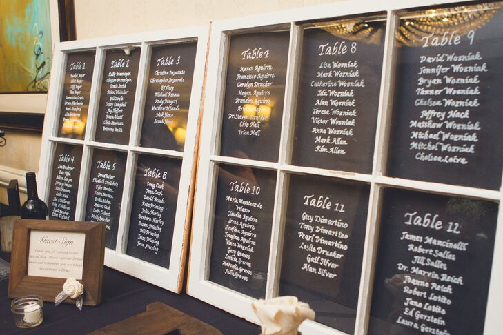 Window Pane Table Assignments