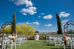 Outdoor Wedding Ceremony at FireRock Country Club