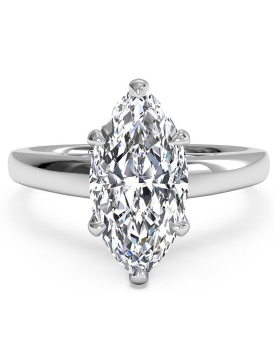 Ritani Solitaire Diamond Cathedral Engagement Ring - in 14kt White Gold for a Marquise Center Stone Engagement Ring photo