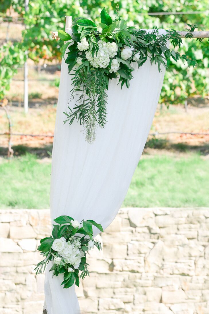 White Rose and Vine Wedding Arch