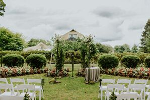 Berry Vien and Hydrangea Covered Chuppah