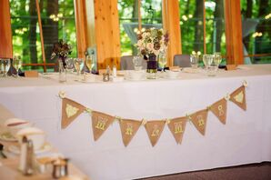 Rustic DIY Mr. and Mrs. Pennant Flag