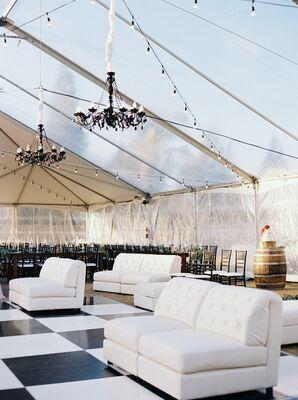 Clear-Tent Reception for Backyard Wedding