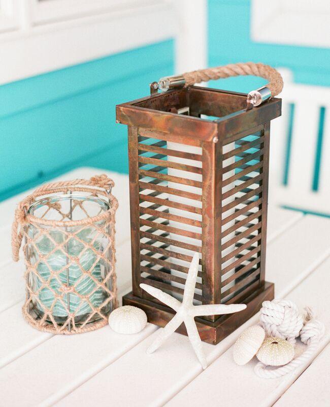 Nautical Copper Lantern | Jodi Miller Photography | blog.TheKnot.com
