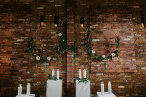 Greenery Décor and Brick Wall at The Loading Dock in Stamford, Connecticut