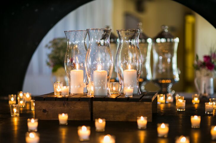Tea Light and Tall Candle Fireplace Accents