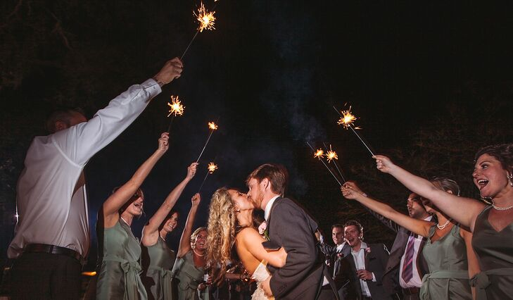 Gina and Kirby's Sparkler Exit
