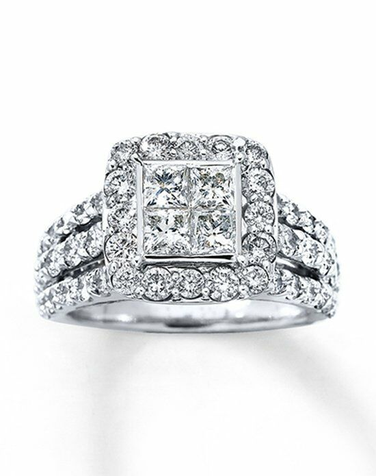 Modern wedding rings newlyweds Heart engagement ring kay jewelers
