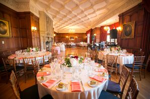 Pink and White Reception Space
