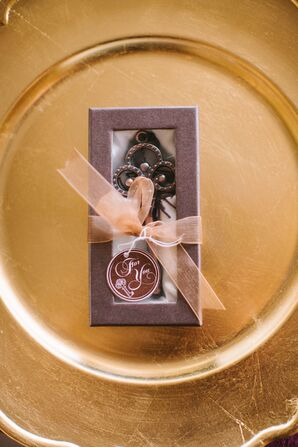 Vintage Key Boxed Wedding Favor