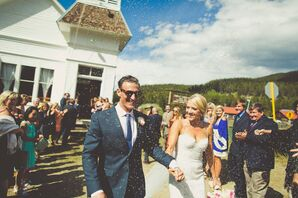 Gracie and Carey Lavender-Throwing Recessional