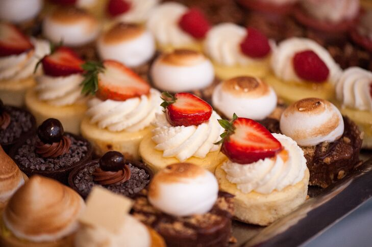 """""""Instead of opting for cupcakes, we chose an assortment of at least 13 kinds of round pastries,"""" Kimberly says."""