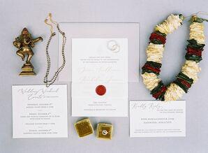 Classic Invitations for Wedding at The Clifton Inn in Charlottesville, Virginia