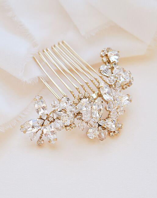 Dareth Colburn Maddie Crystal Comb (TC-2222) Gold, Pink, Silver Pins, Combs + Clip