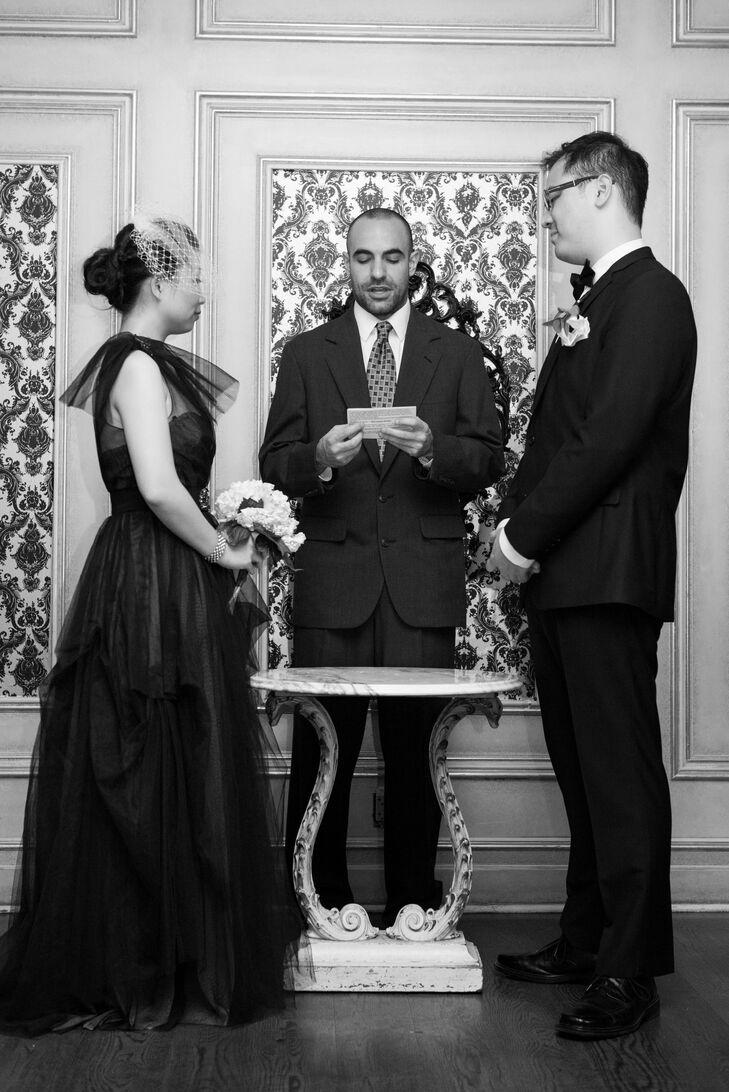 Wedding Ceremony Vows in Bar Bourdeaux