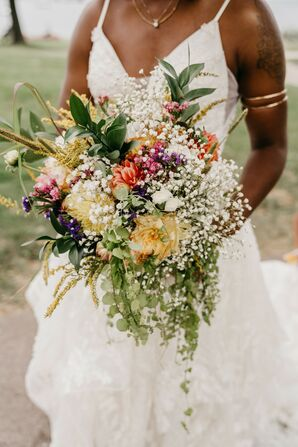Wildflower Bouquet for Wedding at Turner Hall in Milwaukee, Wisconsin