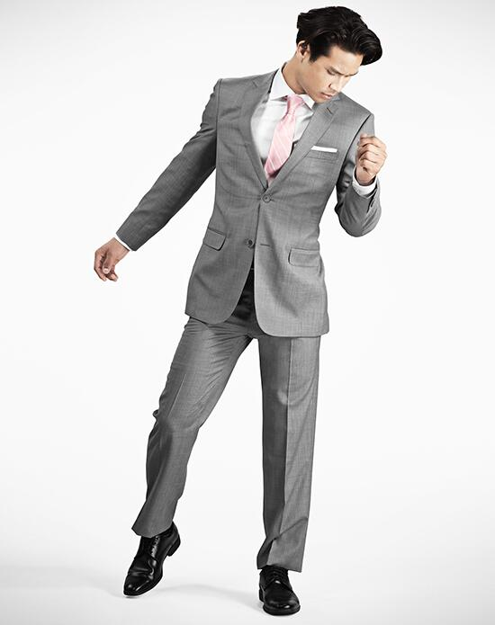 Generation Tux Notch Lapel Modern Fit Light Gray Suit Wedding Tuxedos + Suit photo