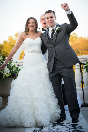 """Newlyweds Wave to Guests After Saying """"I Do!"""""""