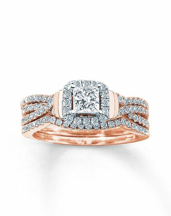 Kay Jewelers DIAMOND BRIDAL SET 1 CT TW PRINCESS-CUT 14K ROSE GOLD Engagement Ring photo