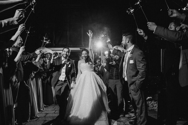 Classic Sparkler Exit at Planterra Conservatory in West Bloomfield Township, Michigan