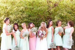 Short Mint Green Bridesmaid Dresses