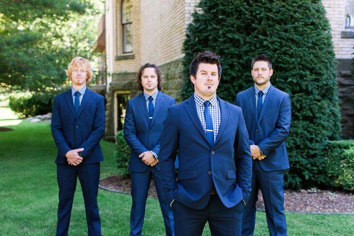 Navy Blue Groomsmen Suits