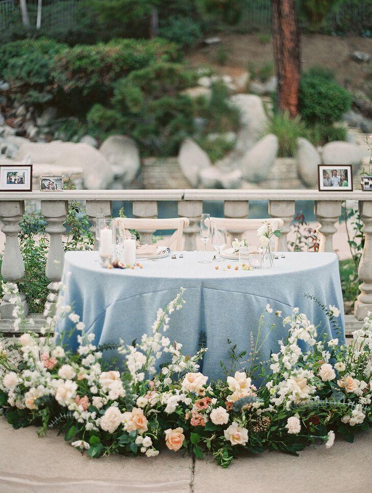 Romantic Sweetheart Table for California Wedding Reception