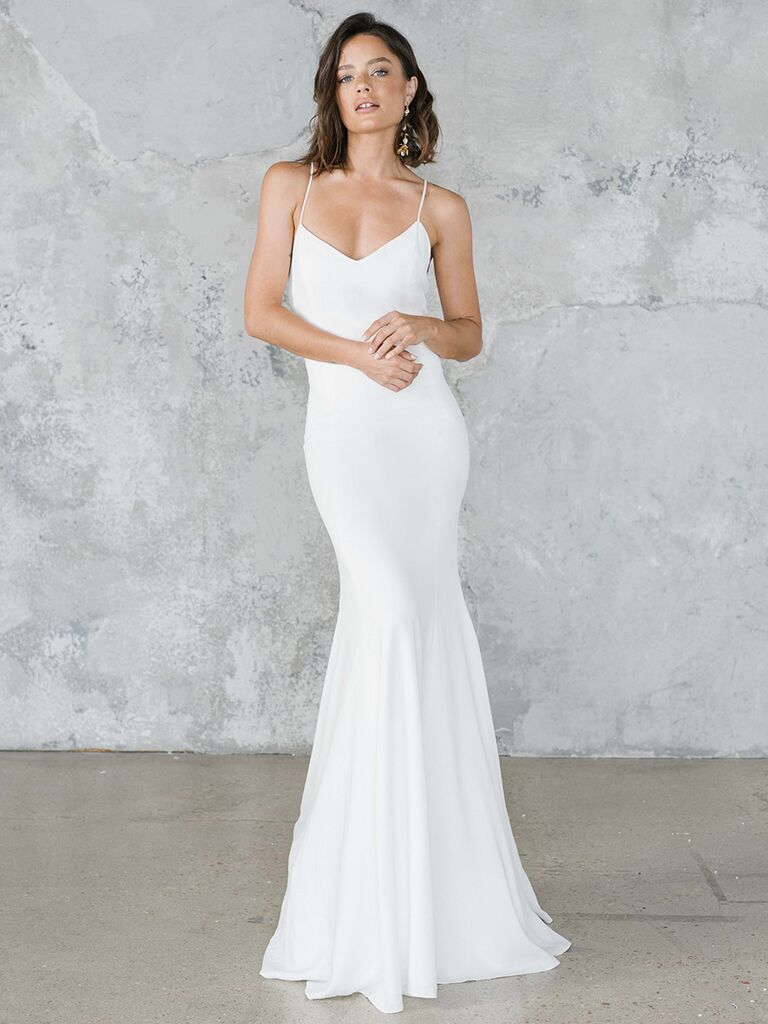 Rime Arodaky fitted dress with spaghetti straps