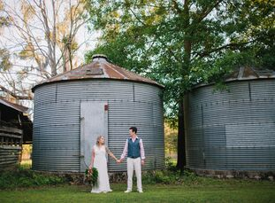 """Amber Trim (25 and a veterinary technician) andChance Lunn (25 and a grocery stockman and student), who met in middle school, wanted a wedding that """""""