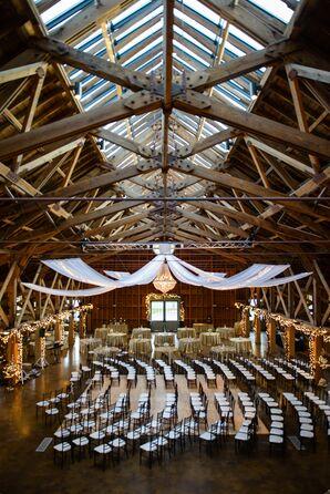 Glamorous Winter Barn Ceremony