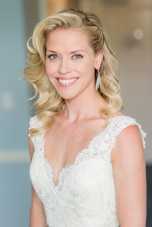 Side-Swept Bridal Hairstyle