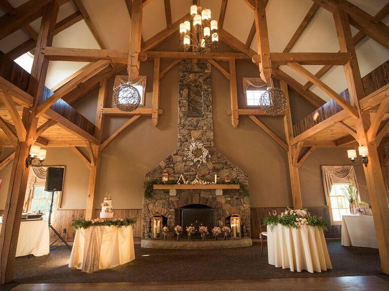 Fall wedding venue in Princeton, Massachusetts.