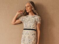 Embellished mother of the bride dress