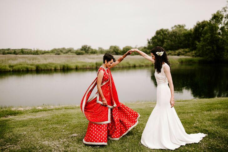 Brides at Wedding at Misty Farm in Ann Arbor, Michigan